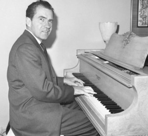 Richard Nixon playing some all-american music by Charles Ives