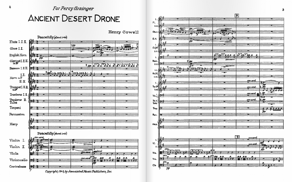 first page of score by Henry Cowell