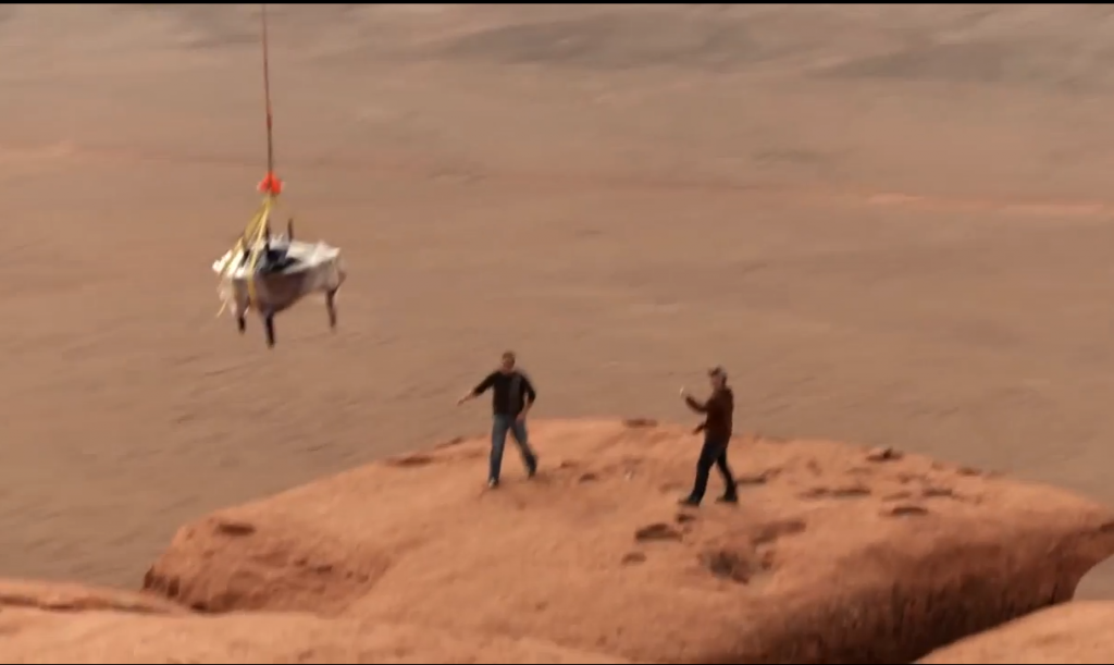 The Piano Guys, flying a piano onto the top of a desert cliff (nothing to do with this show, but I love it)