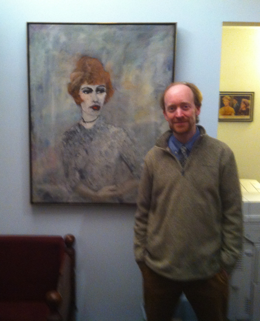 Lotte Lenya and Guy Livingston share a moment at the Kurt Weill Foundation