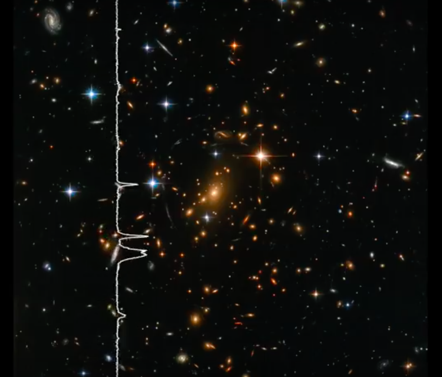 Hubble image for sonification